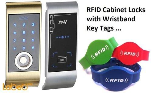 قفل إلكتروني HUNE يفتح عن طريق بطاقة أو اسوارة موديل YR01