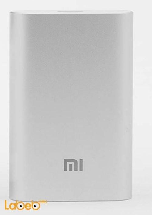 شاحن محمول MI سعة 10000mAh منفذ USB فضي NDY-02-AN