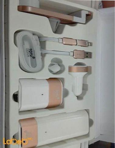 مجموعة Totu design للموبايل شاحن محمول شاحن سيارة وصلة حامل موبايل للسيارة