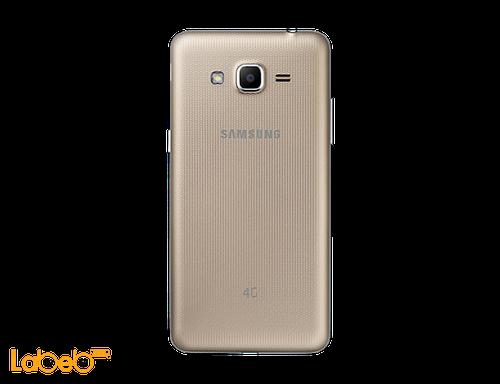 back Samsung Galaxy J2 prime smartphone gold
