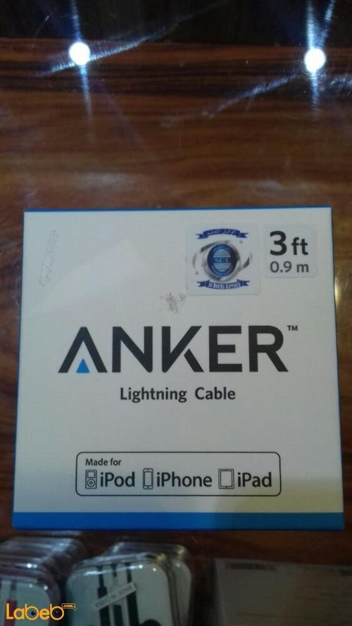 Anker Lightning cable Iphone devices 0.9m gray A7136011