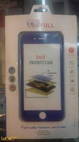 غطاء خلفي وأمامي 360 مناسب لموبايل ايفون 6 لون ازرق
