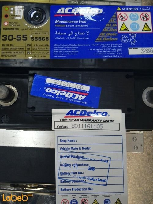 Acdelco premium car and truck battery 55565 12V 55ah