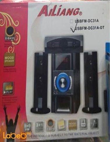 Ailing multimedia speaker system USB Black USBFM-DC31F-DT