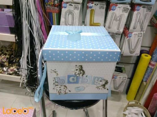 babeis boys gifts box with baby word Blue