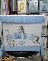 صندوق هدايا الاطفال الاولاد مع كتابة كلمة baby لون أزرق