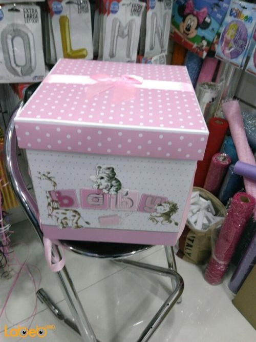 babeis girls gifts box with baby word Pink