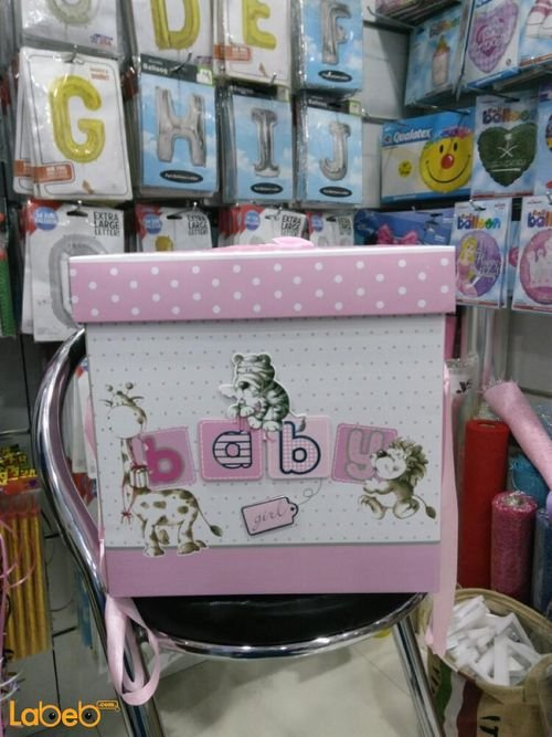 babeis girls gifts box with baby word Pink color