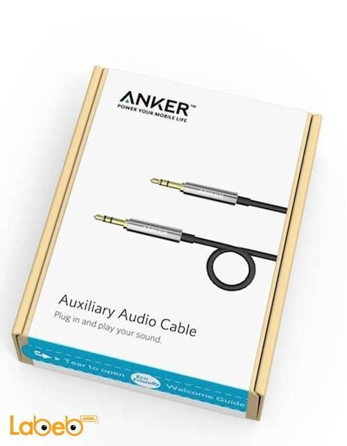 Anker Premium Auxiliary Audio Cable 1.2m black A7123011