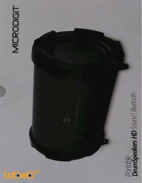 MicroDigit portable drum speaker hd black color M0054RT