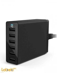 Anker Wall Charger - 60Watt - 6xUSB port - Black - A2123K11