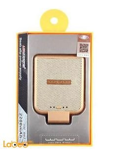 WUW back clip power supply - 2200mAh - Gold - B02 model