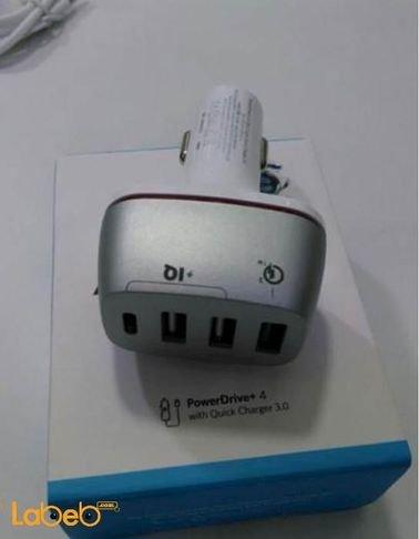 شاحن سيارة PowerDrive 4 A2240021 انكر 3 مداخل USB أبيض