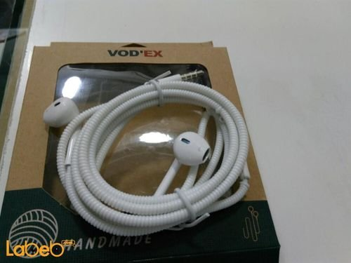 Vodex headphones for iPhone microphone White