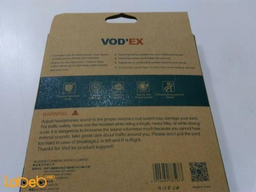 Vodex headphones for iPhone devices white color