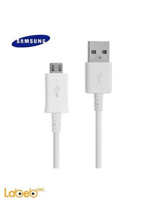 كابل شحن سامسونج طول 1 متر ميكرو USB 2.0  أبيض ECB-DU4AWC