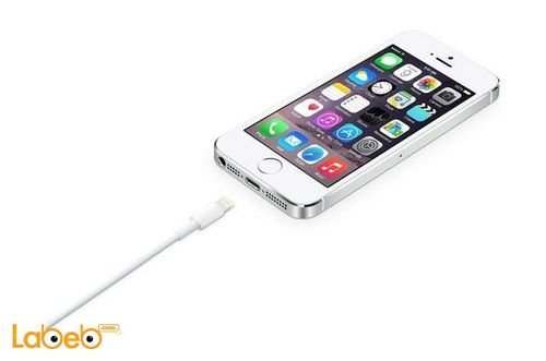 White Apple Lightning to USB Cable 1M MD818FEA