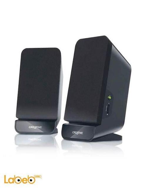 مكبر صوت سلكي كرييتيف 2 قناة لون أسود موديل A60