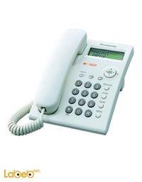 هاتف باناسونيك أرضي شاشة LCD مكبر صوت ابيض KX-TSC11SUW