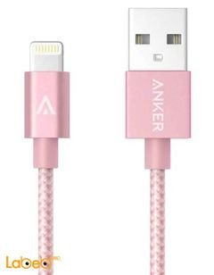 Anker USB to Lightning Cable - 0.9m - Pink color - A7136051