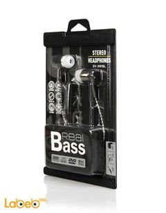 REALBASS stereo headphone - black color - 1.5m - EV-3101SL