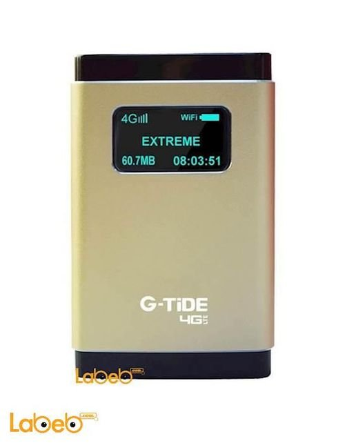 راوتر 4 جي G-tide سرعة 100Mbps شريحة سيم 10 مستخدمين ذهبي