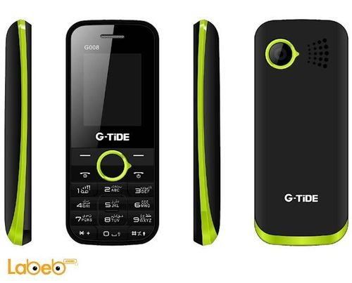 G-tide G008 mobile 8GB 1.8inch Dual sim Black and green