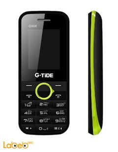 G-tide G008 mobile - 8GB - 1.8inch - Dual sim - Black and green