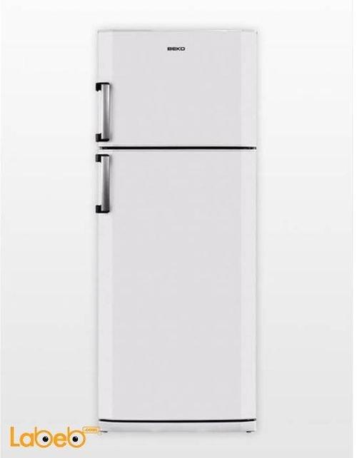 ثلاجة فريزر علوي بيكو 24 قدم خاصية no frost لون ابيض