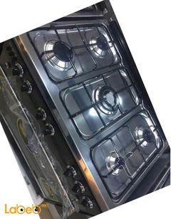 Samix oven - 5 burners - 80x50cm - black and steel