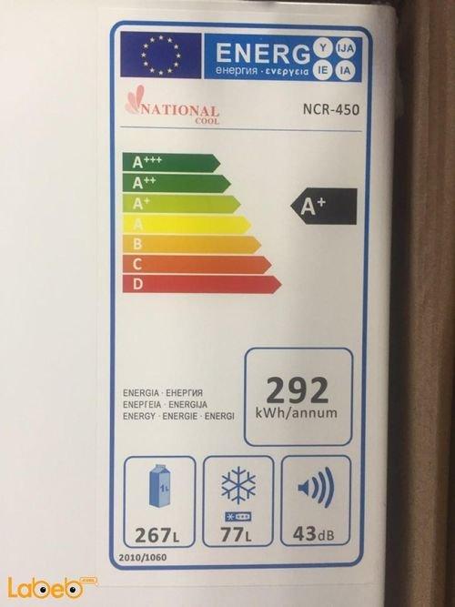 بطاقة طاقة ثلاجة فريزر علوي National Cool