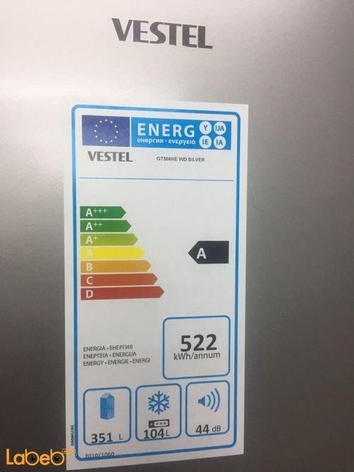 energy label Vestel Bottom Freezer cooler Refrigerator