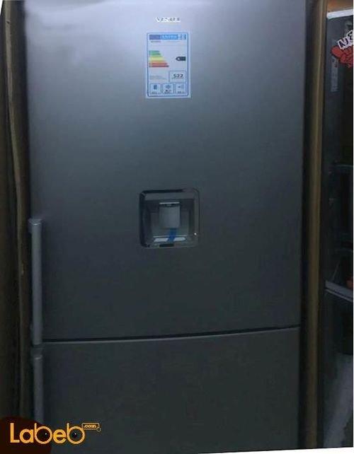 Vestel Bottom Freezer cooler Refrigerator 24cft 455L silver