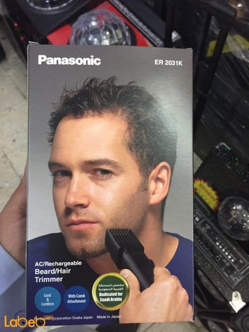box Panasonic ACRechargeable Hair &Beard Trimmer ER-2031K