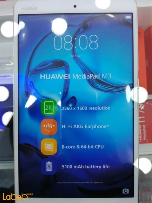 screen Huawei MEDIAPAD M3 Tablet white