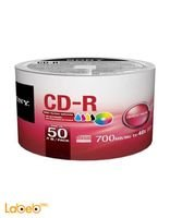 SONY CD Recordable Media 700 MB 50 Pack Spindle CD-R 48x