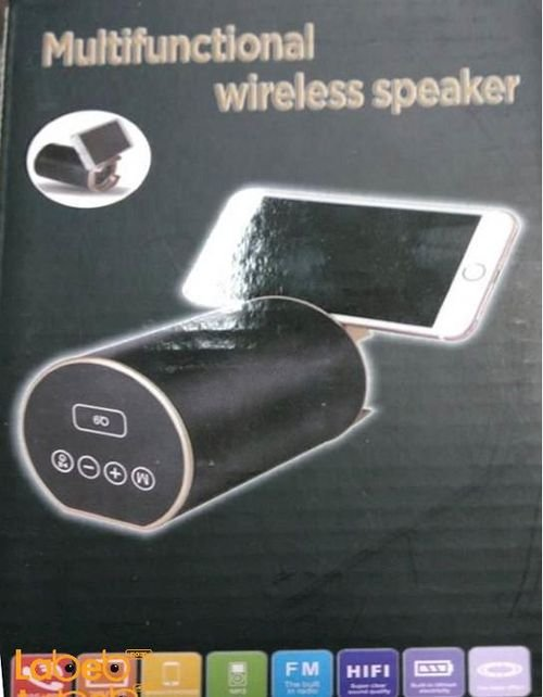 multifunctional wireless speaker mobiles& tablet black color