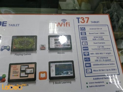 specifications G-TIDE tablet gold T37