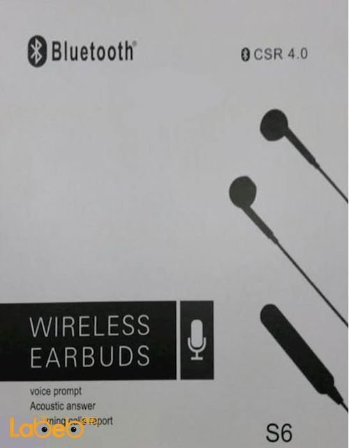 CSR wireless Earpuds 4.0v 10 hours talking time white S6