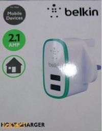 شاحن حائط بيلكين 2.1 امبير USB 2 لون أسود F8J052UKBLK