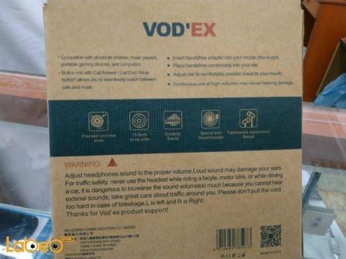 specifications Vodex headphones