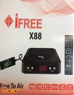 iFree receiver - 5000 channels memory - Black color - ifree X88