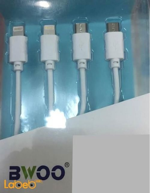 Bwoo 4-in-1 USB Cable 100 cm White Universal