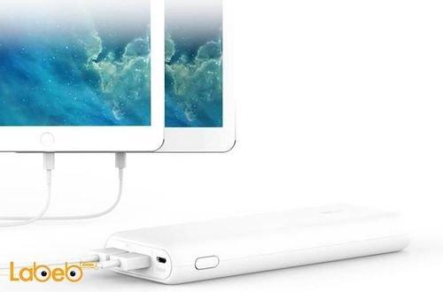 بطارية محمولة انكر 20100mAh منفذين USB لون أبيض A1271H22