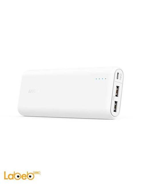 بطارية محمولة A1271H22 انكر 20100mAh منفذين USB أبيض