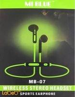 سماعة بلوتوث Mi Blue زمن التحدث 10 ساعات لون أخضر MB-07