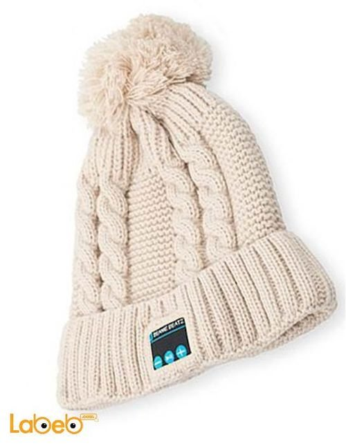 beige Dream hat hands free bluetooth beanie