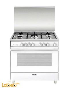 GLEM GAS gas oven - 90x60cm - 5 burners - White - AL9612