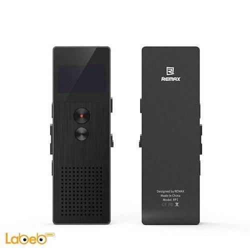 مسجل صوت رقمي محمول ريماكس 8 جيجابايت HD أسودRP1