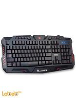Marvo K636 gaming lighting keyboard led light 114 keys Black